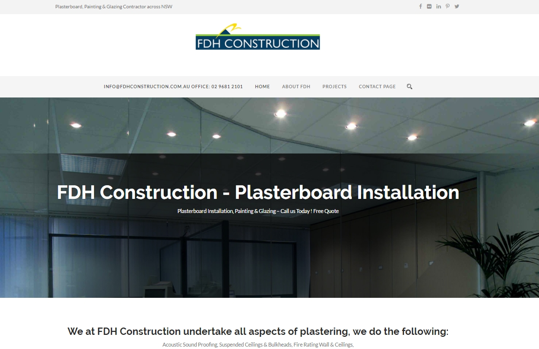 fdh construction website design