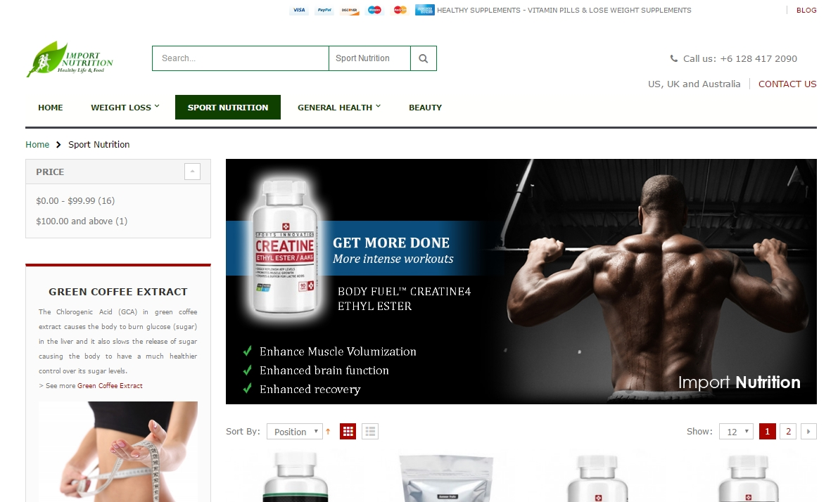 nutrition supplements website