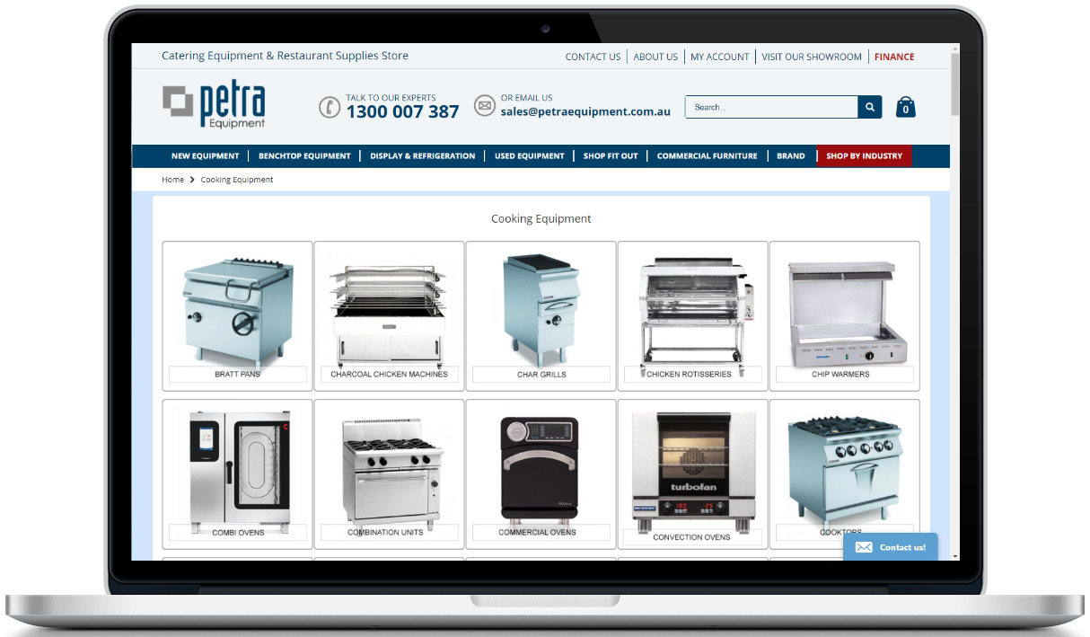 Web Design for Petra Equipment based in Brisbane